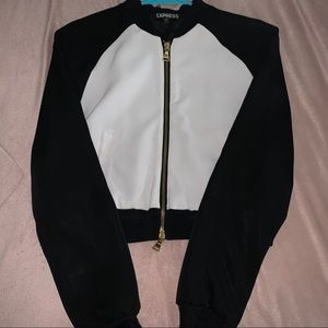 Express black with white jacket with gold details